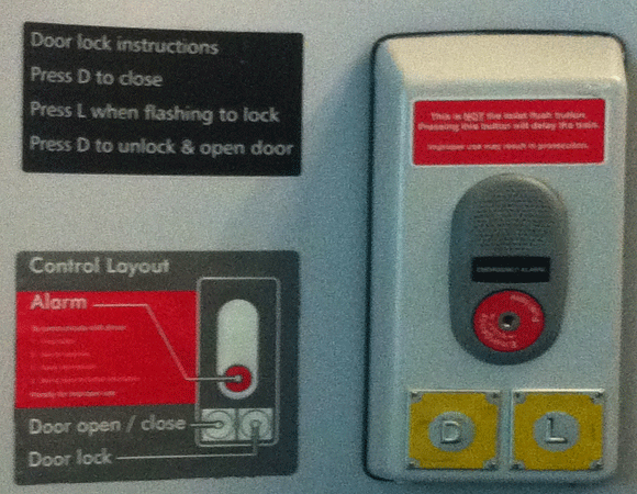 Train Toilet Lock