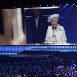 The Queen reads her message to the Commonwealth, opening the Glasgow 2014 Games