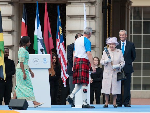 Her Majesty passing on her message on the begin its journey