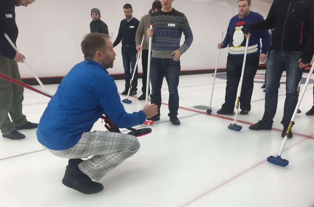 Curling - Graham instructing